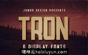 独特粗体复古风格英文字体Tron – Display Font
