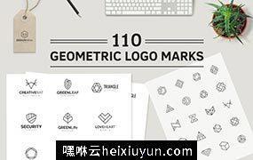 110款高品质几何图形logo模版Geometric Logo #1617665