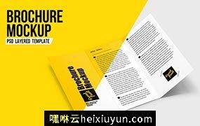 时尚三折页宣传册传单PSD样机Brochure Leaflet PSD Mockup #3602201