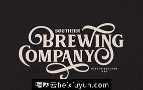 适合 Logo 设计复古英文字体 MUARA #2178004