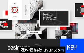 时尚高端的适合商业企业Besimuda Keynote Template  #2228341