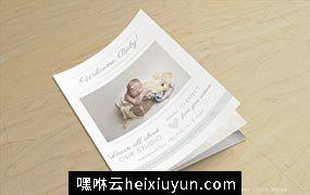 新生儿照片杂志画册 Newborn Photography Magazine Templat