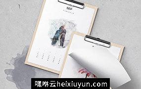 高逼格2018水彩日历模版2018_Watercolor_Calendar #2072193