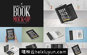 书籍杂志版本图书贴图样机 Book Mock-Up #636080