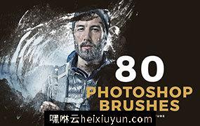 80个为图片添加户外质感灰尘纹理的Photoshop笔刷80_Photoshop_Brushes #1530250