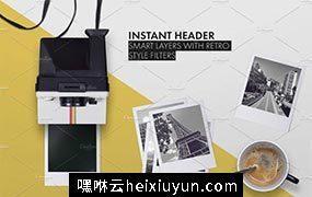 宝丽来相册图册展示贴图样机模型 Polaroid Scene Creator