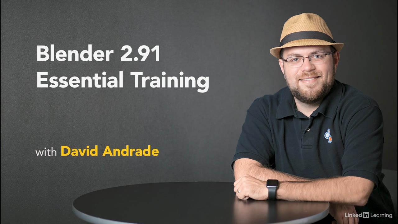 Blender基础入门教程 Lynda Blender 2.91 Essential Training