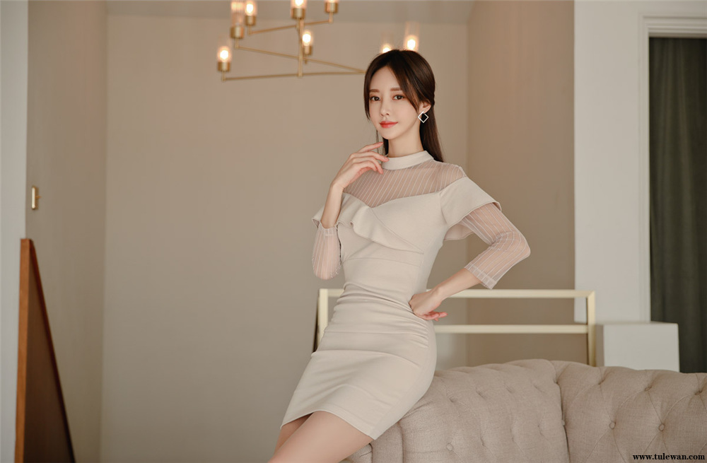 孙允珠丨姜糖奶油垂帘凯特皇妃透纱裙