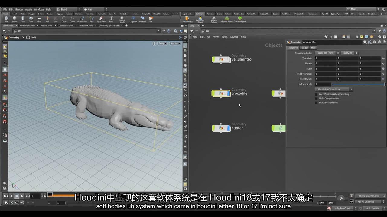 Houdini大师培训课程(Module II - Animal Fury) The Vfx School - Houdini Renascence Program Vol 02