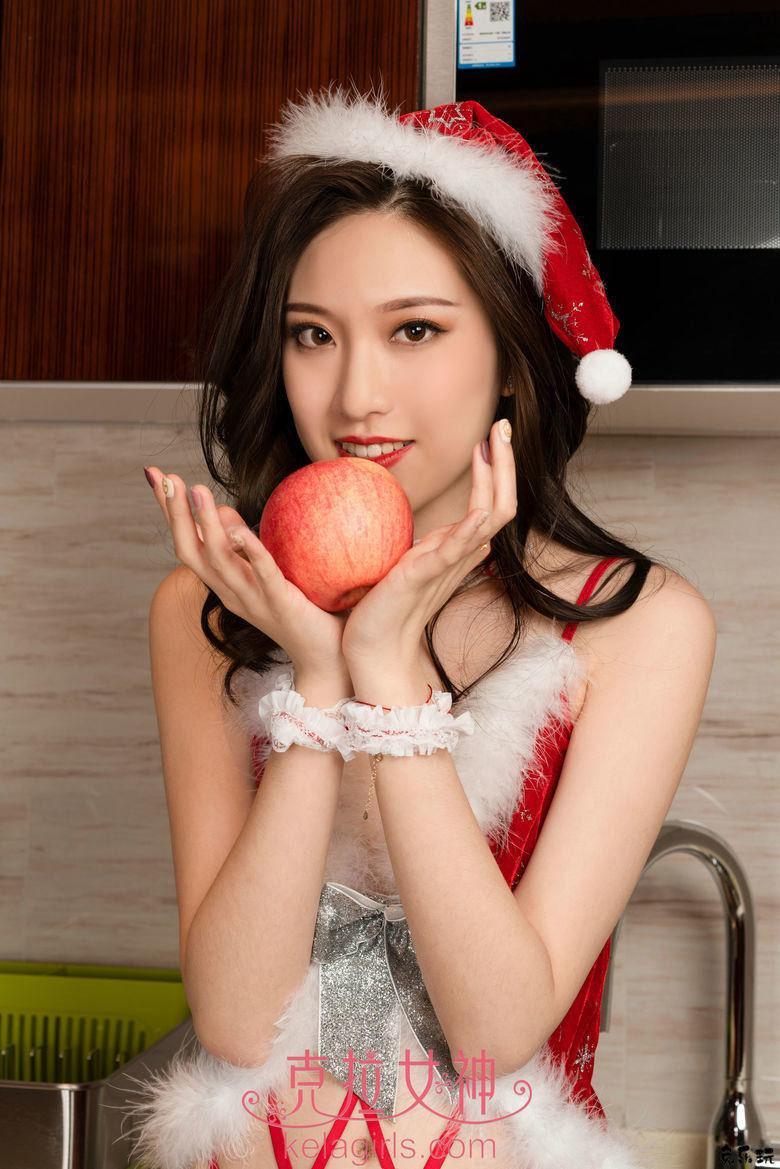 克拉女神Kelagirls芊芊的水果圣诞派写真 美女写真 热图4