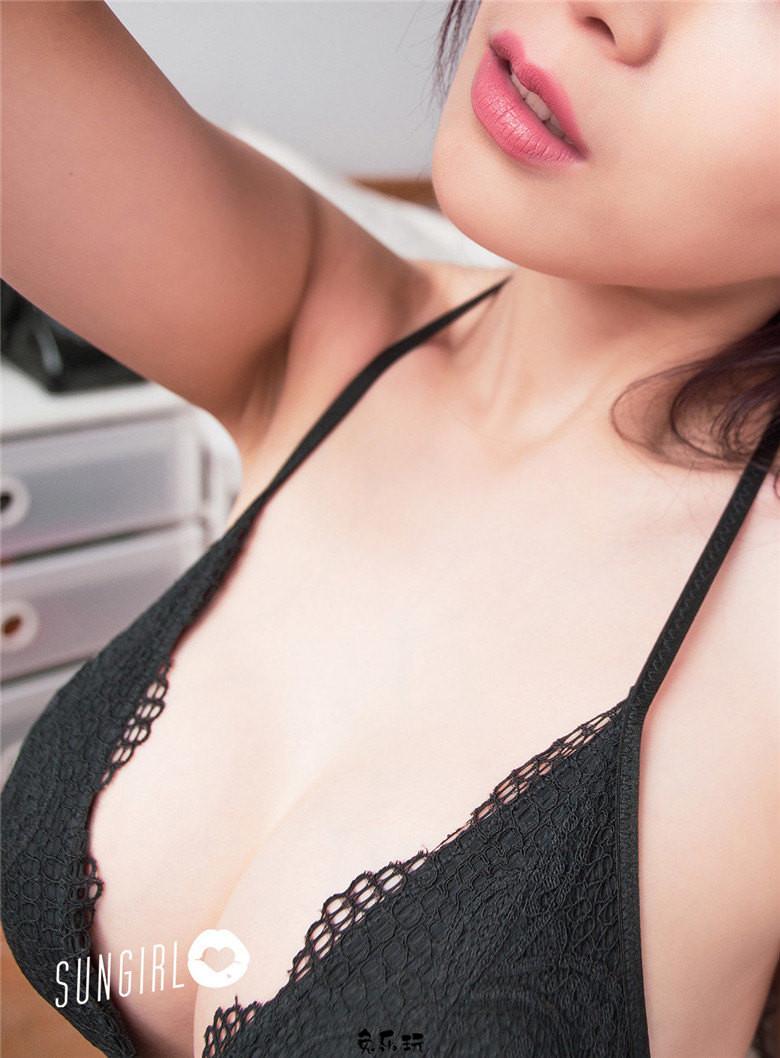 阳光宝贝SUNGIRL黄蔓蔓Irenea 黑色诱惑写真 节操写真馆 热图3