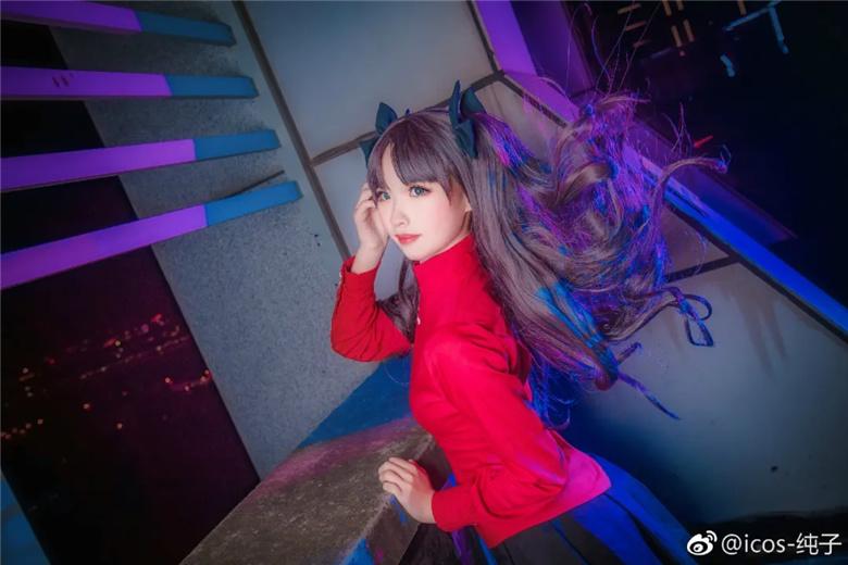 icos_纯子(纯老板X )丨《Fate》远坂凛 COSPLAY 热图3