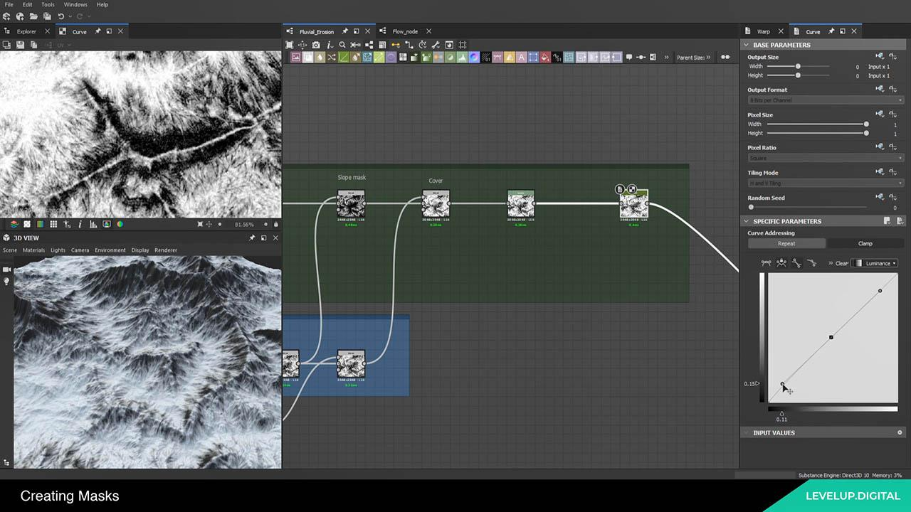 Terrain Erosion in Substance Designer 高山自然地形制作教程