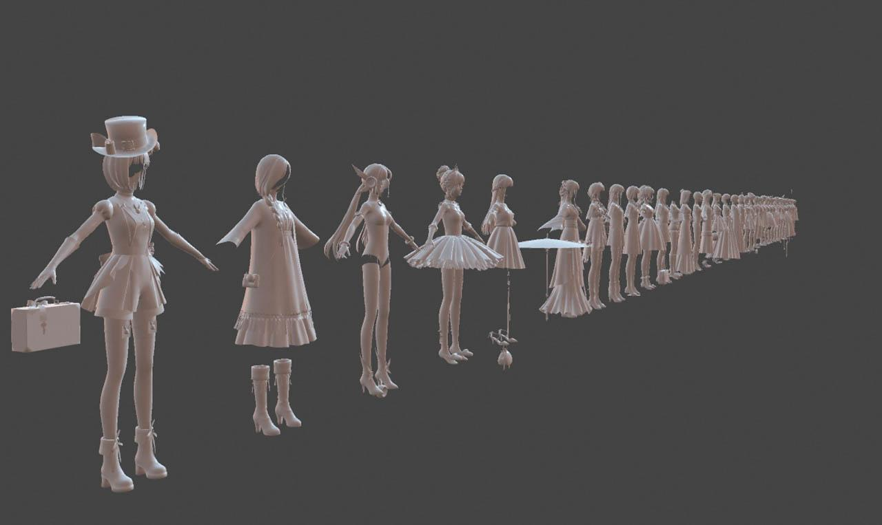 奇迹暖暖全套模型资源 奇迹闪耀暖暖模型动画贴图