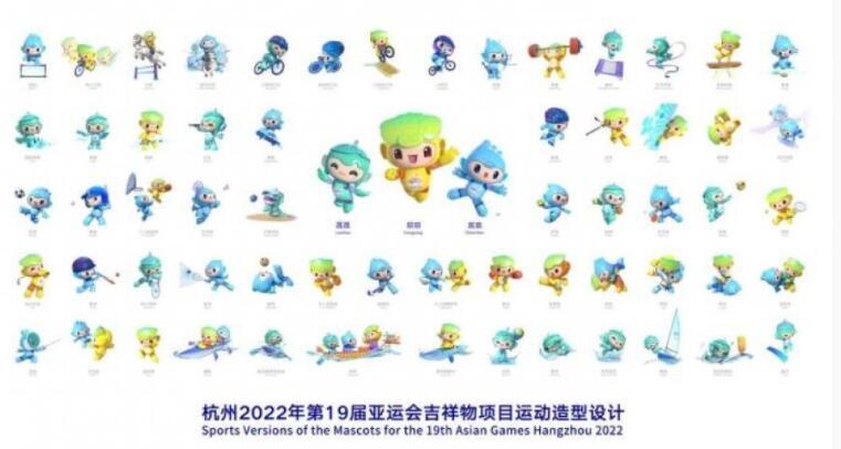 杭州亚运、亚残运会吉祥物项目运动造型设计发布