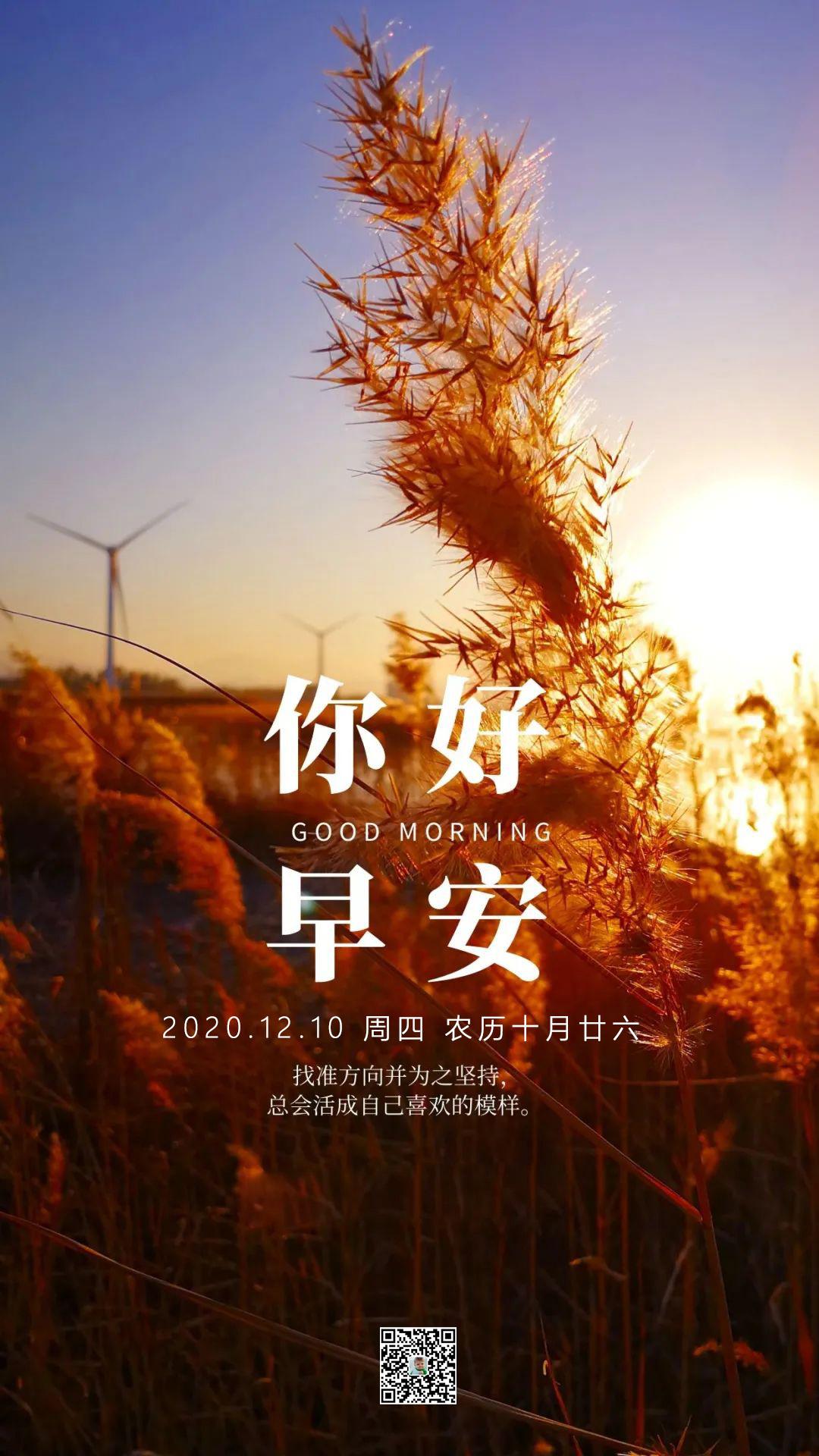 适合早上发朋友圈正能量图片,12月10微信早安日签带激励语